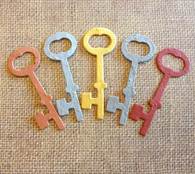 "Skeleton Key Plantable Seeded Paper Shape - 3"" x 1 1/8"" Size, 39 Colors Available - Key to My Heart"