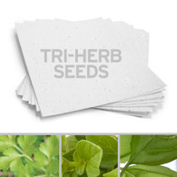 "White Plantable 3 Herb Blend Seed Recycled Paper Sheets - 8.5"" x 11"""