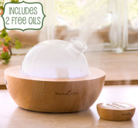 Aria Ultrasonic Diffuser by Young Living with 2 Free Oils, Peppermint and Tangerine