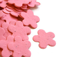 Flower Shaped Plantable Confetti - Hot Pink