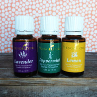 Seasonal Wellness Trio Essential Oils by Young Living - Lavender, Peppermint & Lemon