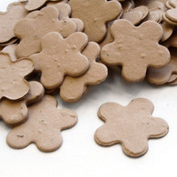 Flower Shaped Plantable Confetti - Latte Brown