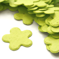 Flower Shaped Plantable Confetti - Lime green