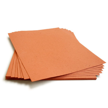 "Terra Cotta Burnt Orange Plantable Wildflower Seed Seeded Paper Sheets - 8.5"" x 11"""