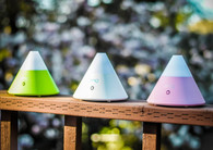 ZAQ Noor Multi Color Litemist Aromatherapy Essential Oil Diffuser 80 ml by Zaq, White, Green, Pink