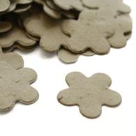 Flower Shaped Plantable Confetti - Stone Grey