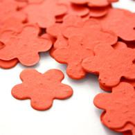 Flower Shaped Plantable Confetti - Tangerine