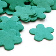 Flower Shaped Plantable Confetti - Teal