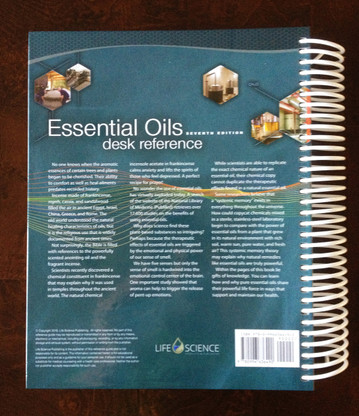 Essential Oils Desk Reference (2016, 7th Edition, Spiral Hard Cover) Back