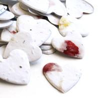 Heart Shaped Plantable Confetti - Petalled White