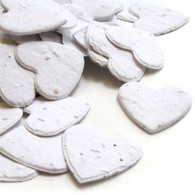 Heart Shaped Plantable Confetti - White