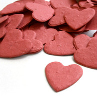 Heart Shaped Plantable Confetti - Brick Red