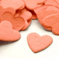 Heart Shaped Plantable Confetti - Coral