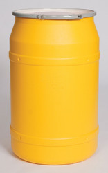 55 Gal. Drum (Yellow) Open-Head Straight w/ Metal Ring