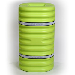 "10"" Column Protector, Lime w/Reflective Bands"