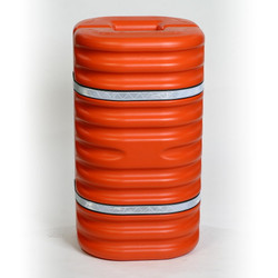 "12"" Column Protector, Orange w/Reflective Bands"