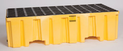 2 Drum Containment Pallet - Yellow no Drain