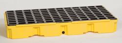 2 Drum Modular Platform - Yellow w/Drain