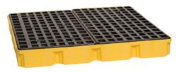 4 Drum Modular Platform - Yellow w/Drain