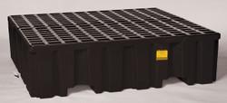 4 Drum Containment Pallet - Black no Drain