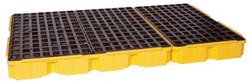 6 Drum Containment Platform - Yellow w/Drain