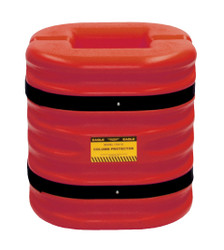 "12"" Column Protector, 24"" High, Red"