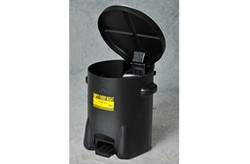 Poly Waste Cans - Black w/Foot Lever