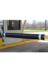 "Innoplast 108"" W Soft Padded Gate Arm Cover (fits standard 1""x4"" gate arm stock) Black w/White Tape"