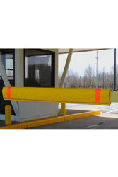 "Innoplast 108"" W Soft Padded Gate Arm Cover (fits standard 1""x4"" gate arm stock) Yellow w/Red Tape"