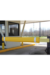 "Innoplast 50"" W Yellow Soft Padded Gate Arm Cover (fits standard 1""x4"" gate arm stock) w/White Tape"