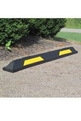 """Innoplast 6' Black/Yellow Rubber Parking Block 72"""" L x 6"""" W x 4"""" H"""