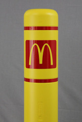 "Innoplast 3.75"" x 5.00"" Red Reflective McDonald's Logo  - Small"