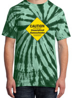 Green Tie-Dye - Caution Unsocialized Homeschooler