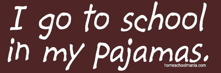 I go to school in my pajamas t-shirt