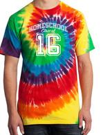 Rainbow Tie-Dye - Homeschool Class of 16 Shirt