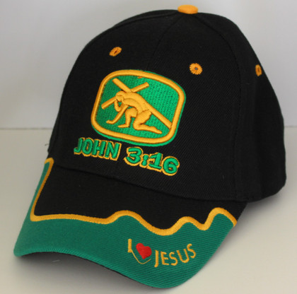 Black John 3:16 Hat