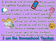 Homeschool Teacher Promise Shirt
