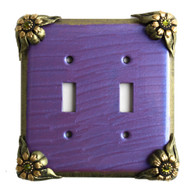 Bloomer iris Double Toggle Switch Cover
