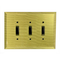 Jade Glass Triple Toggle Switch Cover