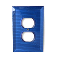 Lapis Glass Single Duplex Outlet Cover