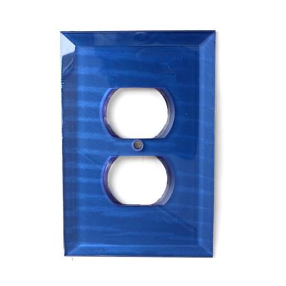 Lapis Glass Single Duplex Outlet Cover