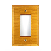 Deep Gold Glass Single Decora Switch Plate