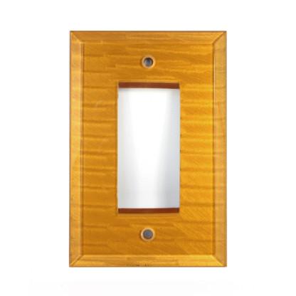 Deep Gold Glass Single Decora Switch Plate