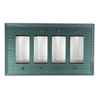 Aqua Glass Quad Decora Switch Cover