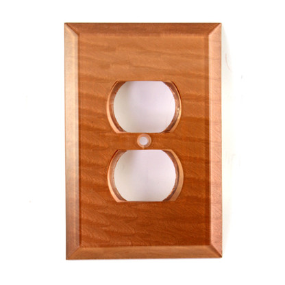 amber Glass Single Duplex Outlet Cover