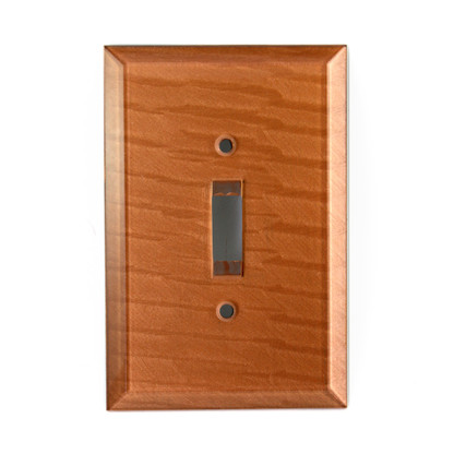 Amber Glass Single Toggle Switch Cover