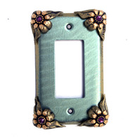 bloomer ivy single decora switch cover aqua