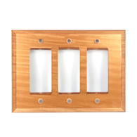 Amber Glass Triple Decora Switch Cover