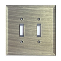 Deep Opal Glass Double Toggle Switch Cover