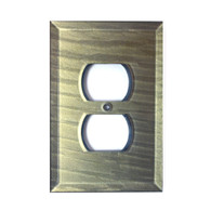 Deep Opal Glass single duplex outlet Cover